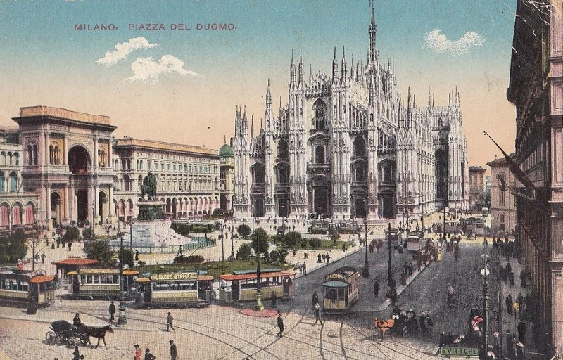 Una cartolina dell'epoca