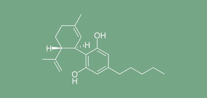 Struttura chimica del tetraidrocannabinolo, comunemente detto THC. (Photo:Wikimedia Commons)