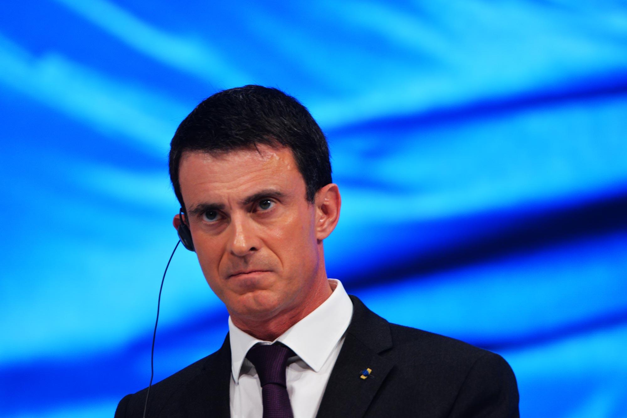 Il primo ministro socialista Manuel Valls