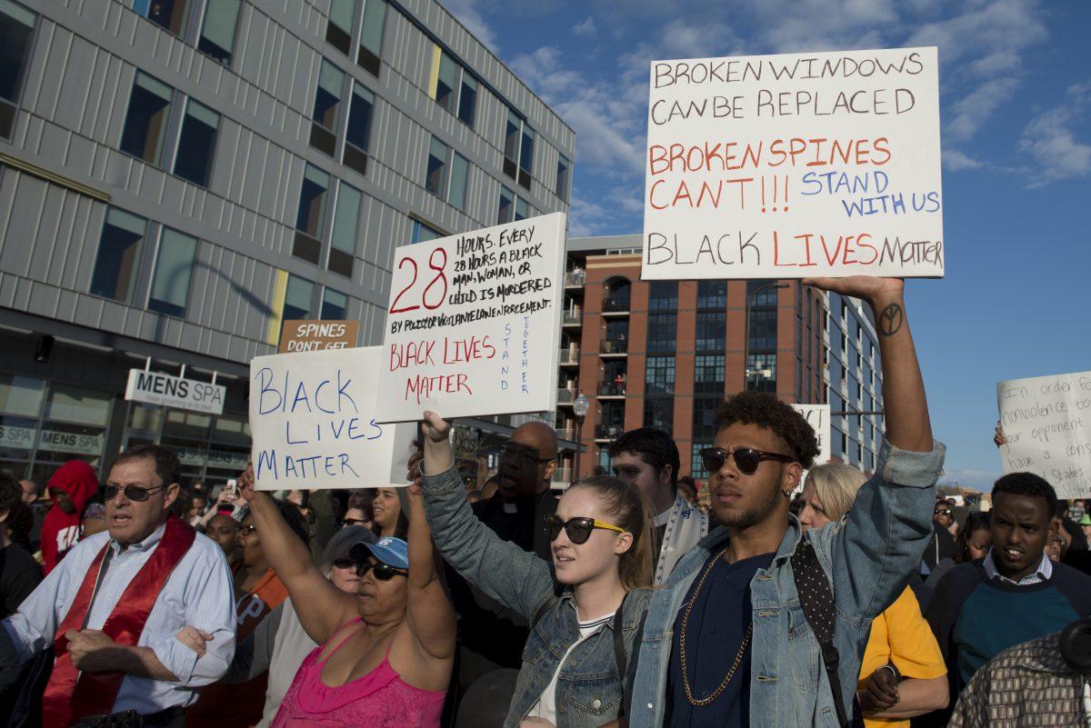 Una manifestazione di Black Lives Matter a Minneapolis