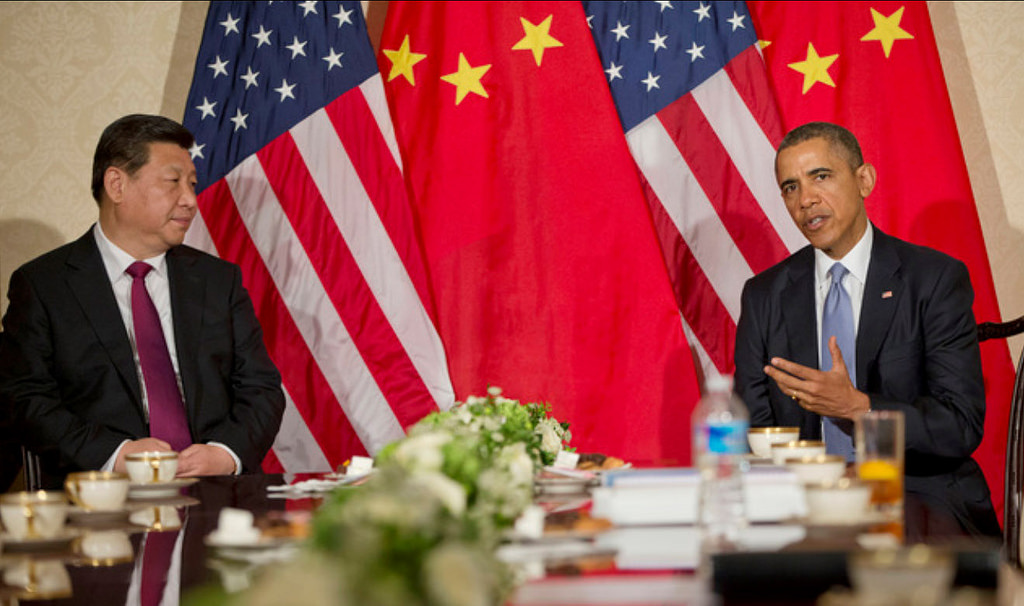 Obama e Xi Jinping durante un incontro bilaterale nel 2014 / Flickr