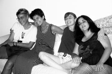 """Il """"quartetto originario"""": Cecilia, Martina, Alice e Aurora."""