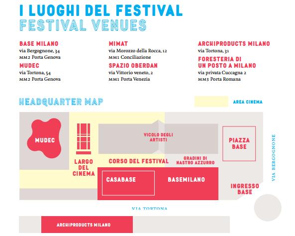 i luoghi del festival