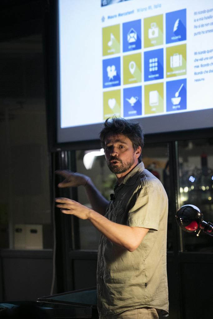 Mauro Mercatanti, ideatore del progetto.