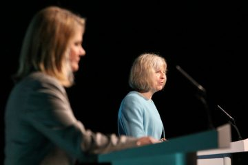 international_development_secretary_justine_greening_and_home_secretary_theresa_may_speaking_at_the_girl_summit_14528995329