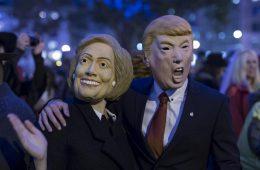 trump-clinton-masks