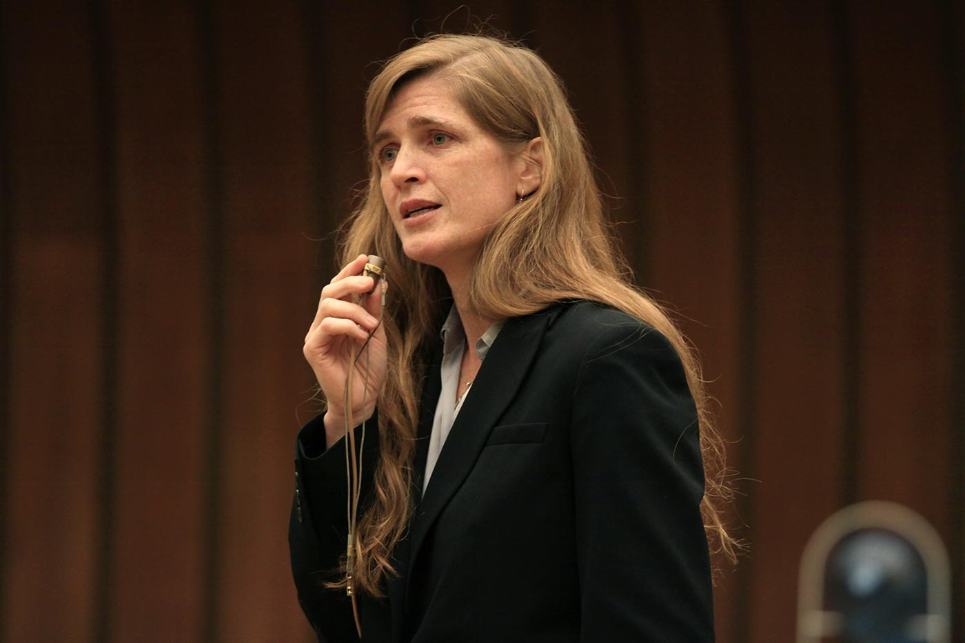 Samantha Power parla a Ginevra