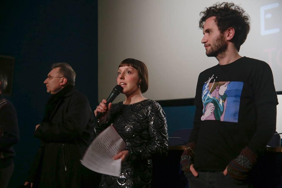 Chiara Pellegrini, direttrice di Fish&Chips, con Rino Stefano Tagliafierro autore di Peep Show (foto via Facebook)