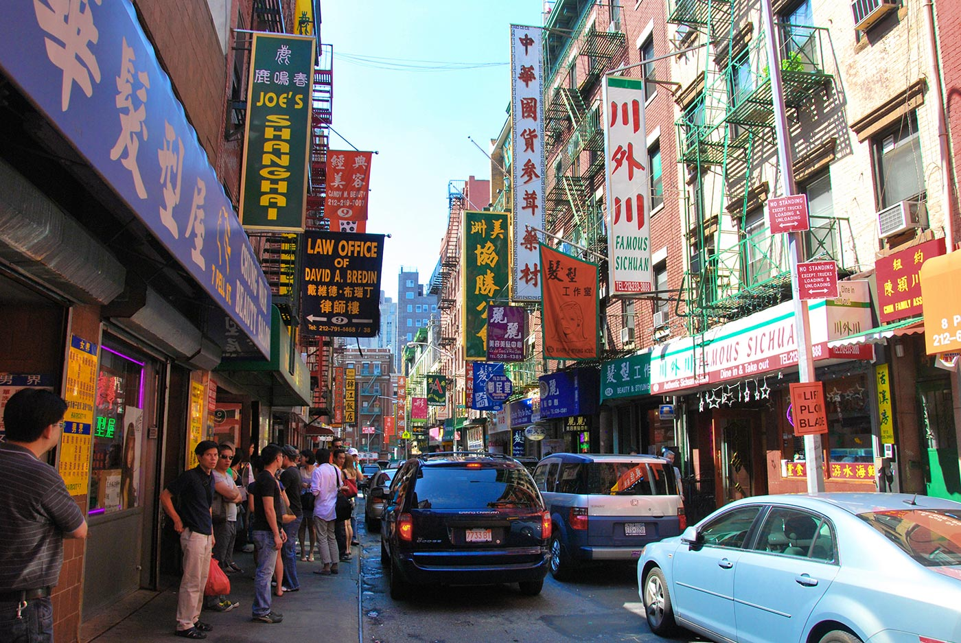 Chinatown, Manhattan, Doyers e Mott Street. Foto CC via Wikimedia Commons
