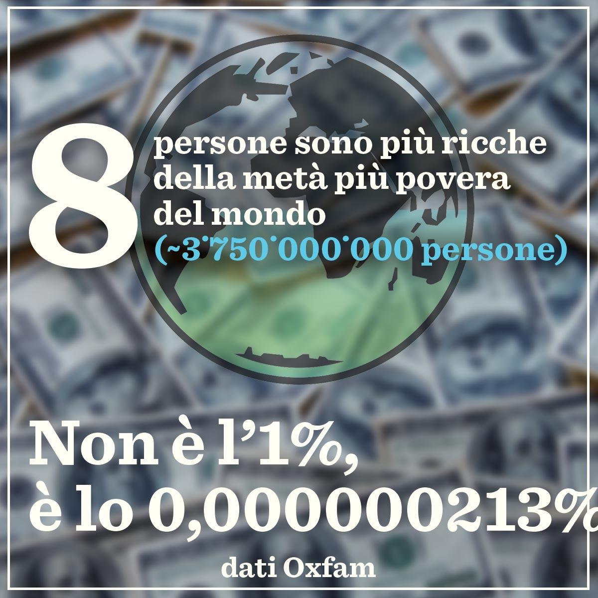 Wef: Oxfam, 8 super miliardari detengono ricchezza 3,6 mld persone (3)