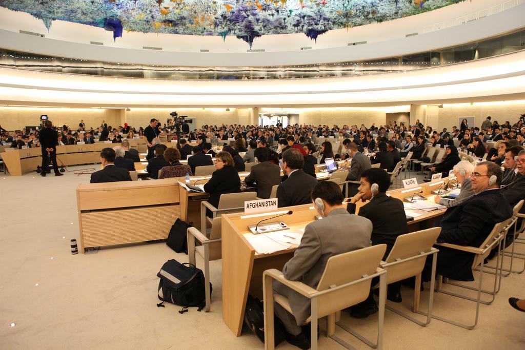 Il Consiglio dei Diritti Umani delle Nazioni Unite durante la presentazione della UPR, Ginevra, 2010 / Flickr