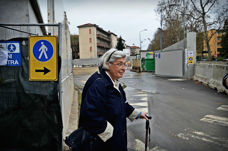 Cantiere per la fermata M4 Segneri.