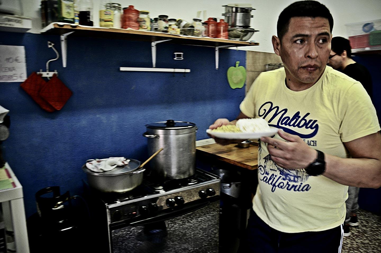 Mensa comune autogestita, cucina