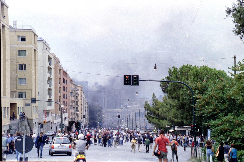 Corso Gastaldi, Genova. 22 luglio 2001