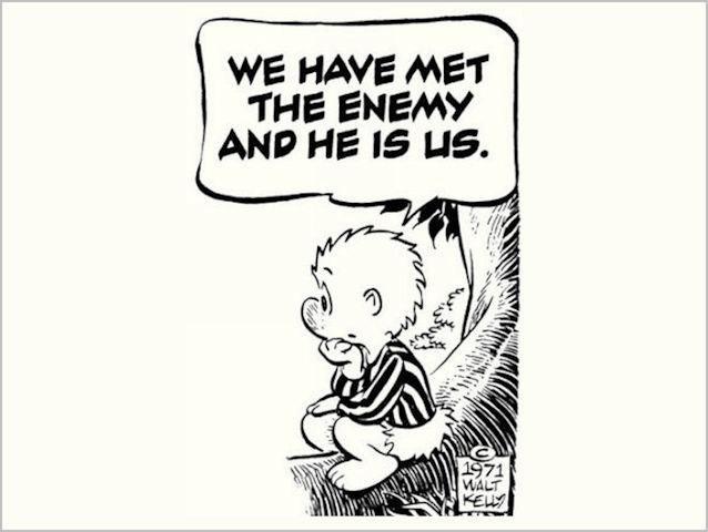 """Immagine tratta dal fumetto satirico """"Pogo"""" di Wal Kelly"""