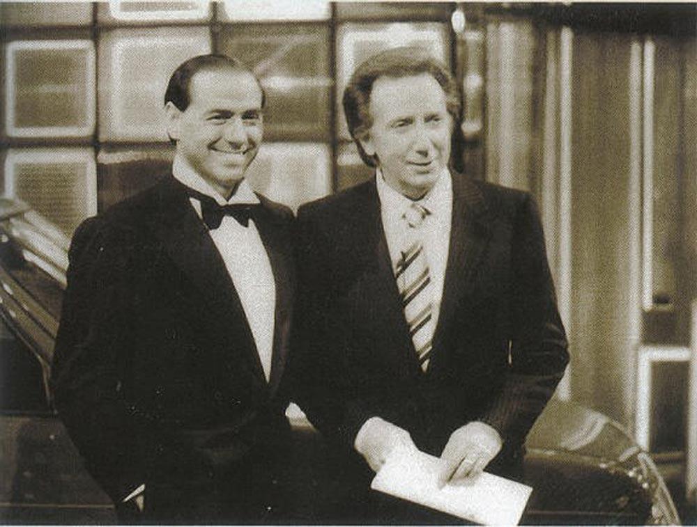Silvio Berlusconi con un amico comune di Matteo Renzi