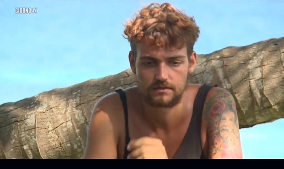 Valerio Scanu durante la decima edizione dell'Isola dei Famosi