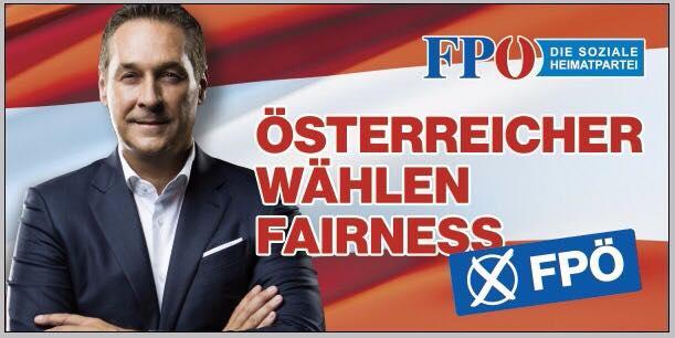 Un manifesto elettorale di Strache