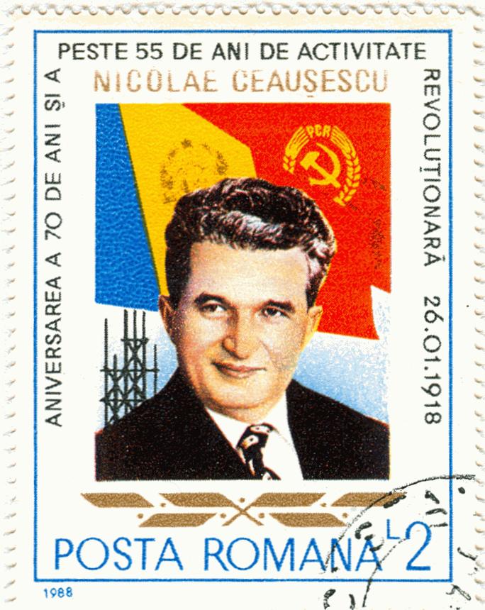 Un francobollo di Ceausescu / Wikimedia Commons