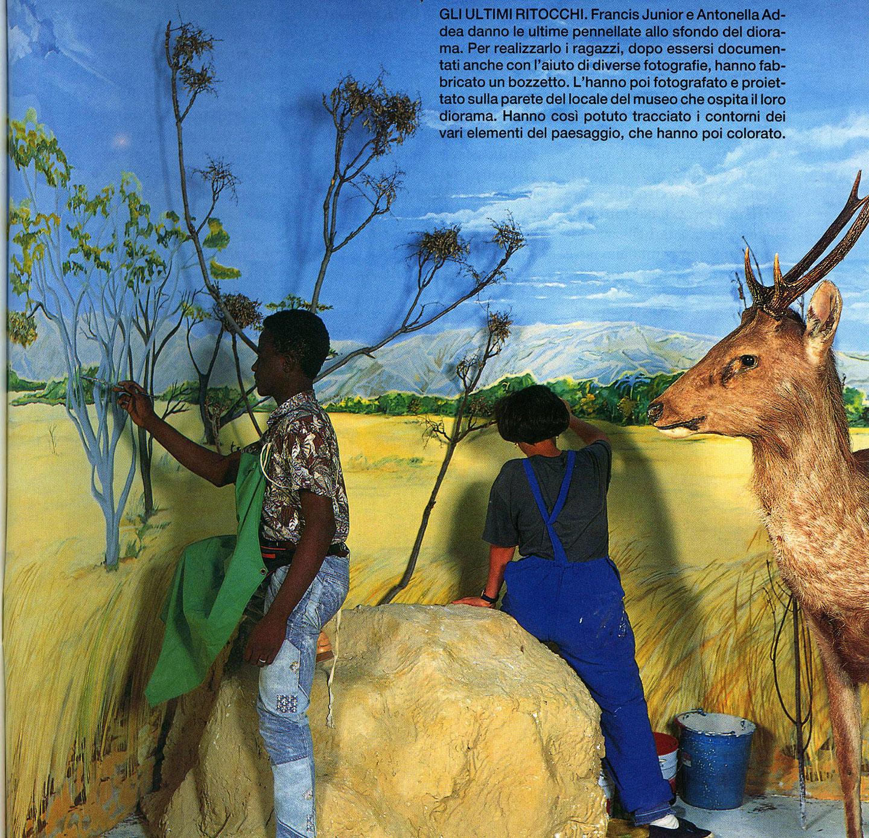 I ragazzi del Muba creano un diorama che verrà utilizzato dal museo di Storia Naturale