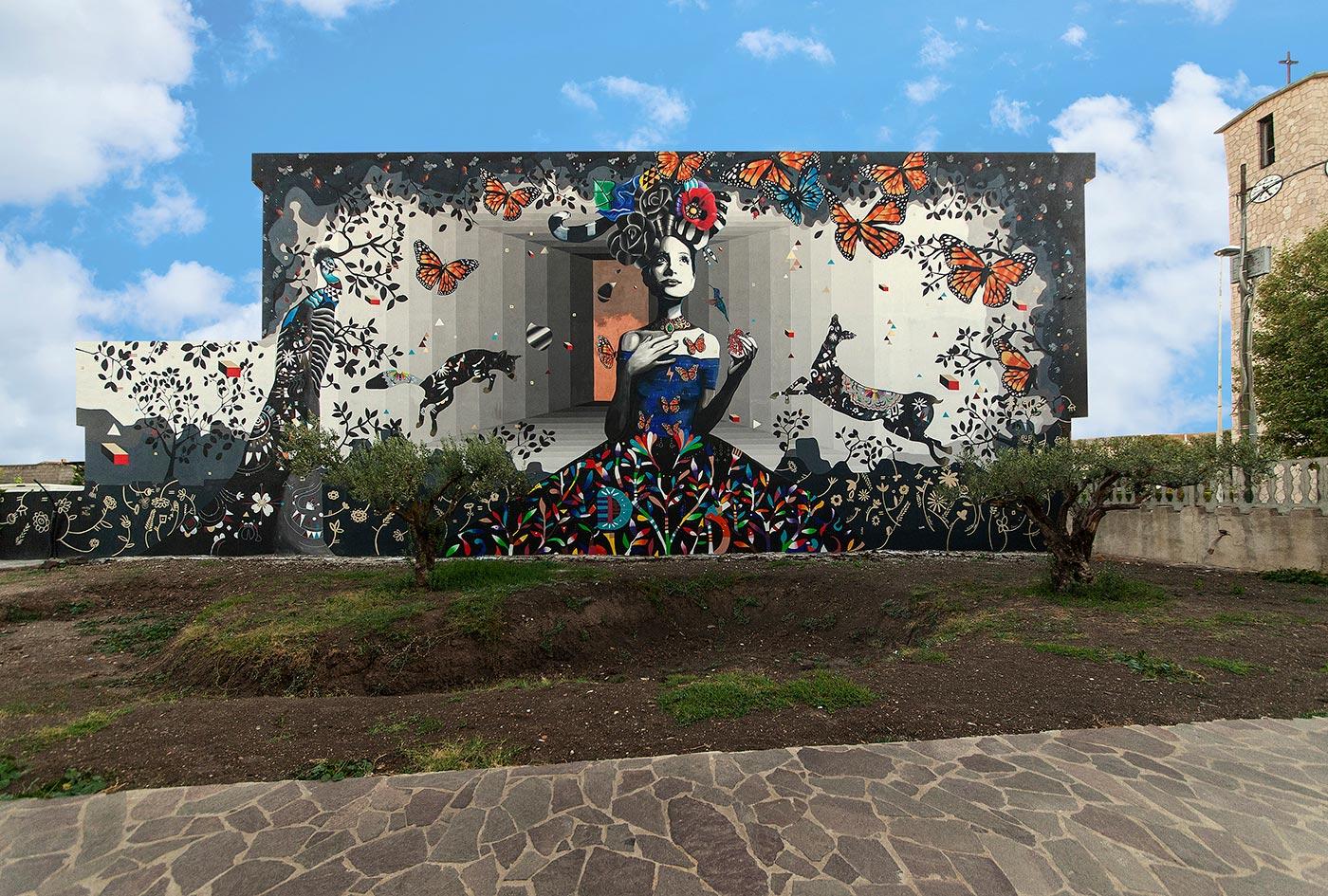 Kore, l'ultimo murale di Jorghe, inaugurato quest'estate