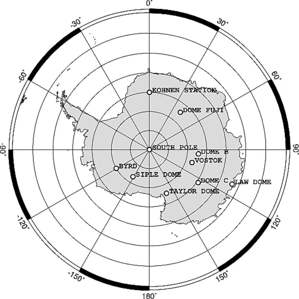 Le basi presenti in Antartide
