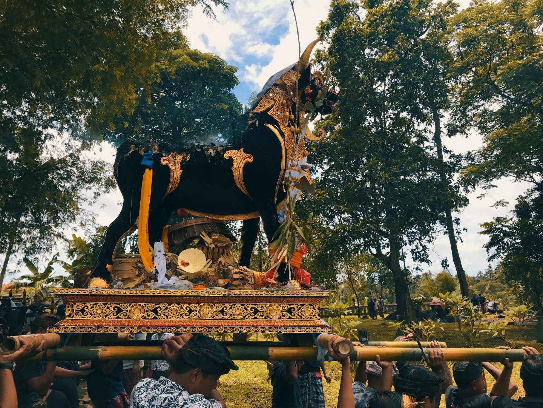 Cerimonia di cremazione a Ubud