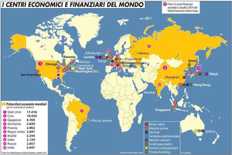 Mappa via Limes: IL CIRCUITO DELLE MAFIE, n°10, 2013