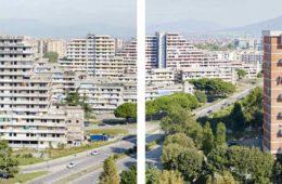 Vista del quartiere Scampia, Napoli, 2013