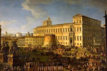 il_corteo_dellambasciatore_veneziano_alvise_mocenigo_dopo_ludienza_papale_nel_palazzo_del_quirinale