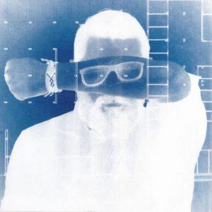 Tommaso Mori, R-Nord, 20x20cm, cianotipia su carta, 1/2, stampa realizzata durante la performance di fotografia partecipata, Modena, 26 maggio 2018