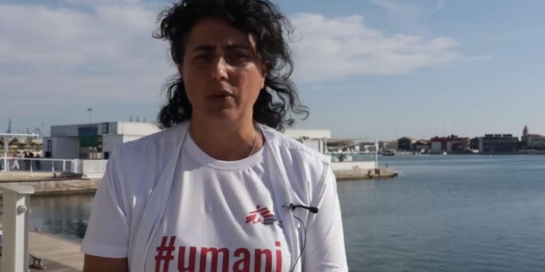 Claudia Lodesani, foto dal blog di MSF Italia