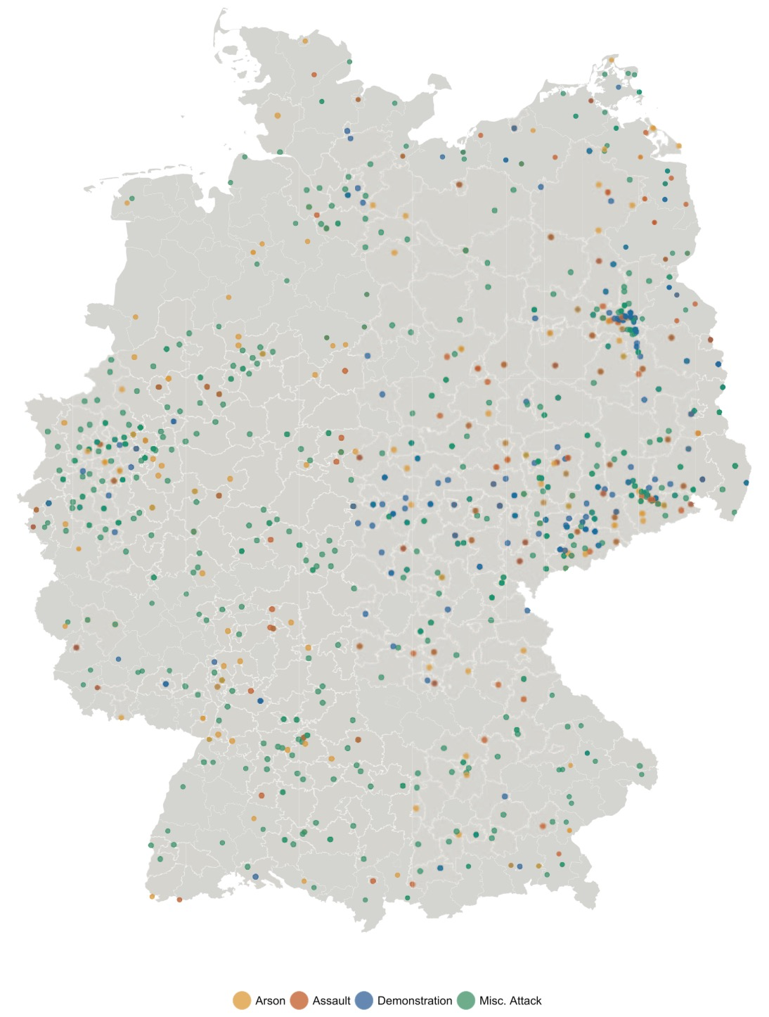 Refugees welcome? A dataset on anti-refugee violence in Germany, David Benček and Julia Strasheim