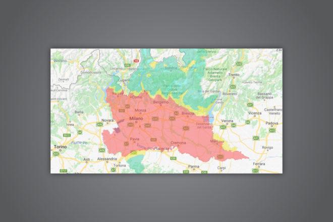Guarda la mappa di quanto fa schifo l'aria di Milano