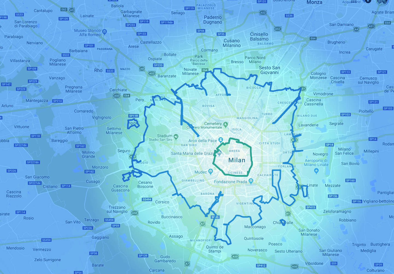 Cartina Dellitalia Milano.Area B Di Milano La Mappa E Tutto Quello Che C E Da Sapere The Submarine