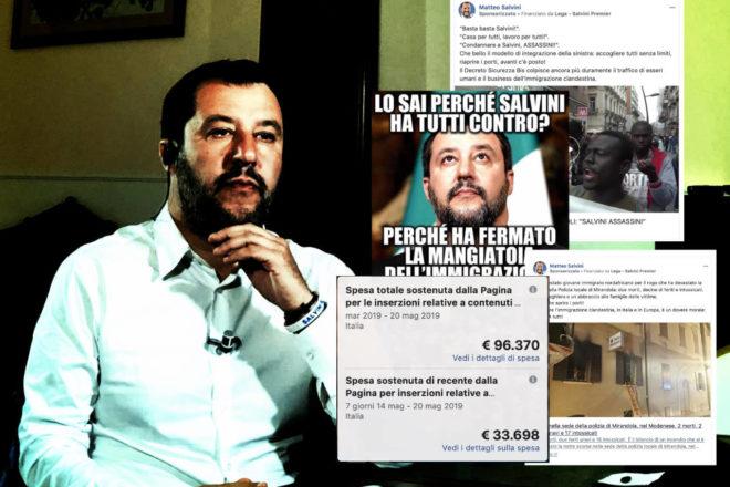 Questi sono i post che Salvini sponsorizza su Facebook