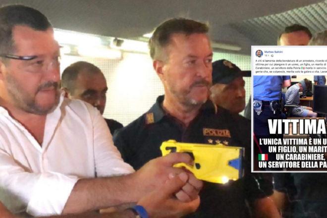 Che sorpresa, Salvini difende gli abusi delle forze dell'ordine