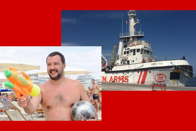 Salvini sta al Papeete, ma il fronte caldo è ancora nel Mediterraneo