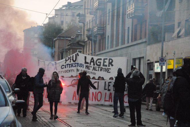 Milano torna in piazza contro l'apertura dei Cpr e in solidarietà con i resistenti curdi