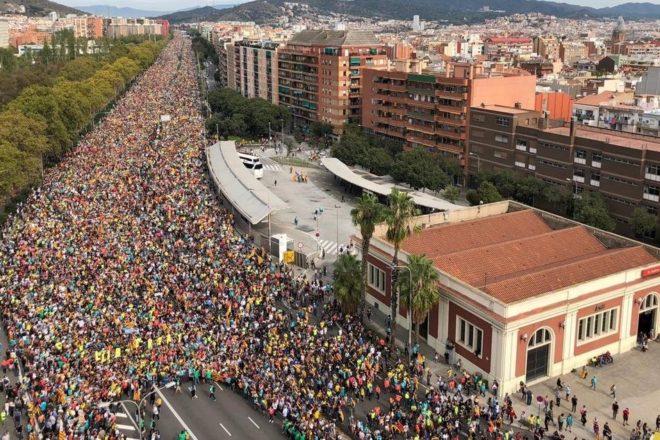 Tutta la Catalogna è in piazza