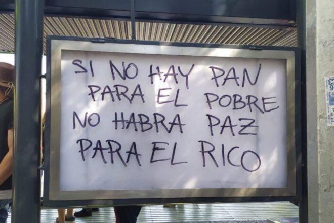 Il Cile in rivolta