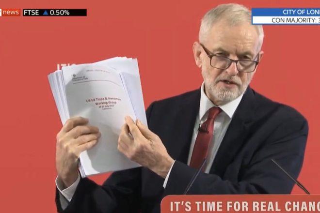 La bomba di Corbyn sulla campagna elettorale britannica