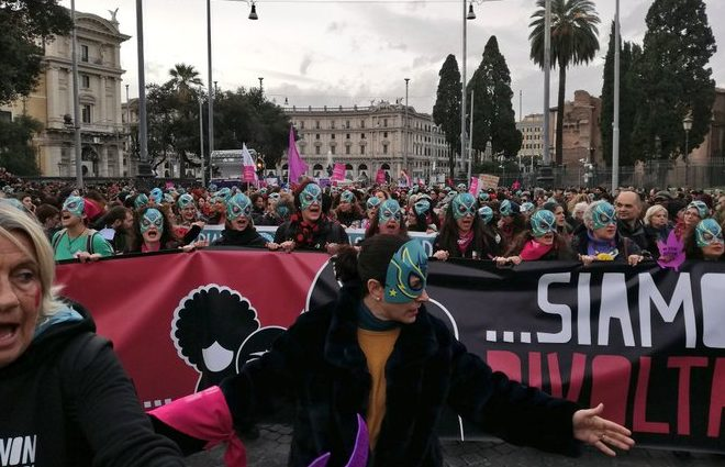 Una marea umana contro la violenza di genere
