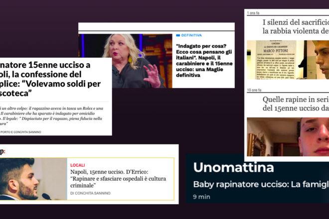 Sul caso del sedicenne ucciso a Napoli la stampa italiana ha dato il peggio di sé