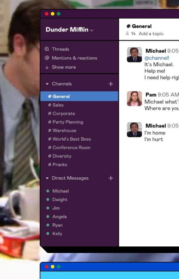 Questo studio di produzione ha ricreato tutti gli episodi di The Office su Slack