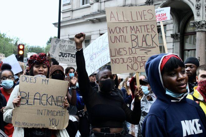 Le proteste di Black Lives Matter a Londra