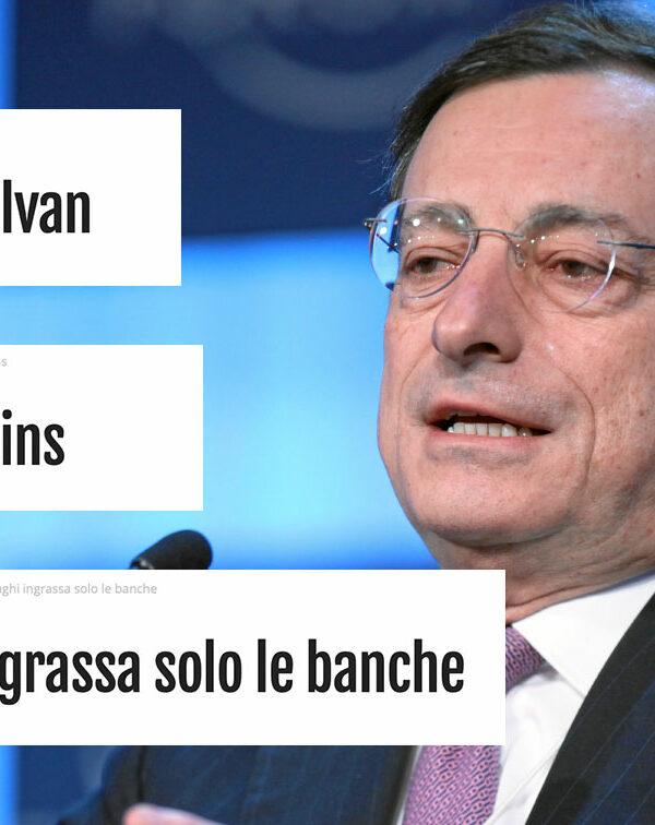 Le cose più belle scritte contro Draghi sul Blog di Beppe Grillo