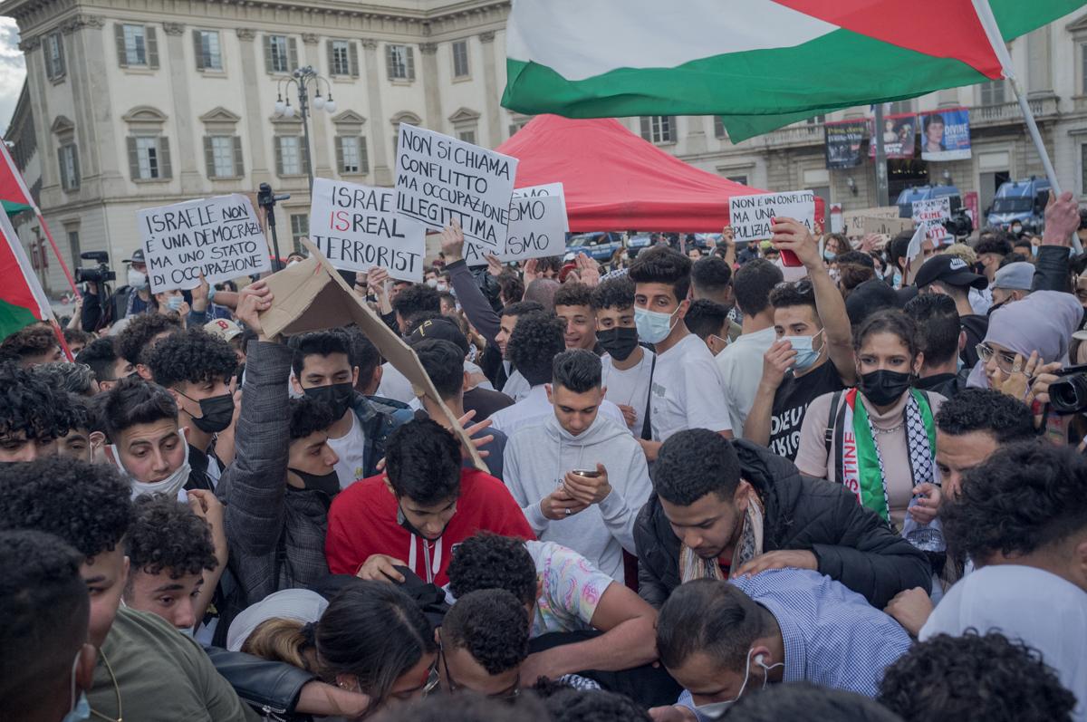 A Milano le seconde generazioni scendono in piazza per la Palestina